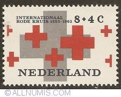 Image #1 of 8 + 4 Cent 1963 - Centennial of Red Cross