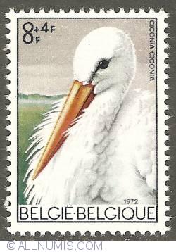 Image #1 of 8 + 4 Francs 1972 - White Stork