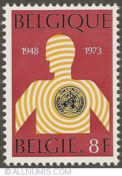 Image #1 of 8 Francs 1973 - World Health Organisation