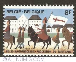 Image #1 of 8 Francs 1983 - Bruges - Procession of the Holy Blood