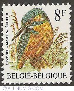 Image #1 of 8 Francs 1986 - Common Kingfisher