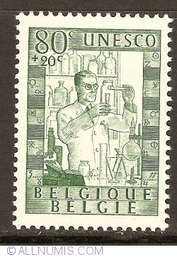 Image #1 of 80 + 20 Centimes 1951 - UNESCO