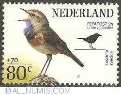 80 + 70 Cent 1994 - Bluethroat