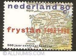 Image #1 of 80 Cent 1998 - 500 Years Central Government of Friesland