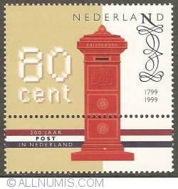 Image #1 of 80 Cent 1999 - 200 Years of Dutch Post