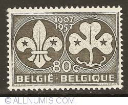 Image #1 of 80 Centimes 1957 - 50th Anniversary of Scouts