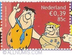 85 Cent - 0,39 Euro 2001 - Cartoons - The Flintstones