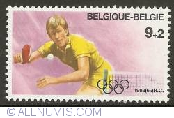 Image #1 of 9 + 2 Francs 1988 - Olympics Seoul - Table Tennis