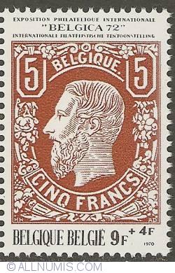 Image #1 of 9 + 4 Francs 1970 - Belgica '72