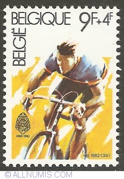 Image #1 of 9 + 4 Francs 1982 - Cycling