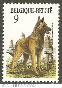 Image #1 of 9 Francs 1986 - Belgian Sheperd Dog (Malinois)