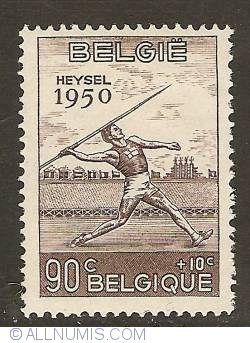 90 + 10 Centimes 1950 - Javelin