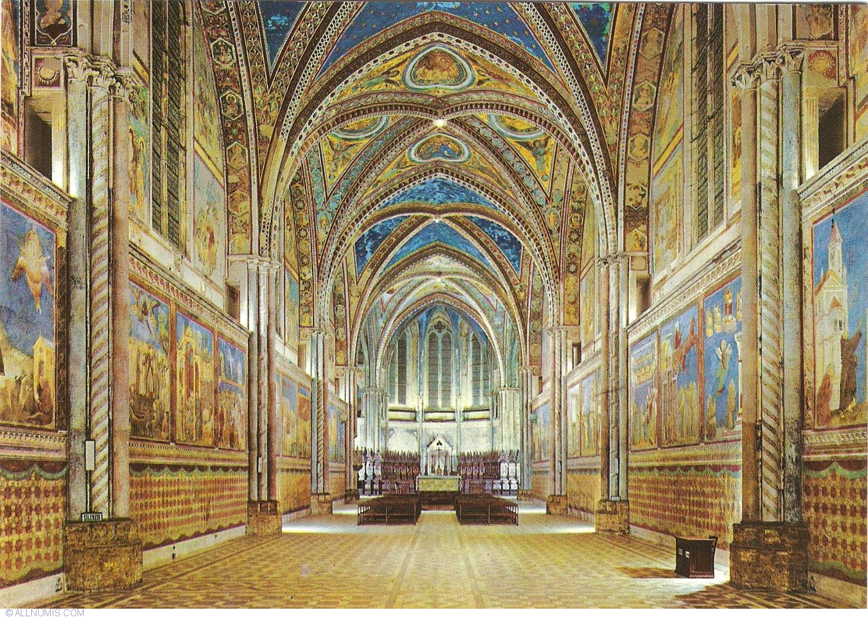 Assisi - Basilica of San Francesco - Upper Church - Inside View, Assisi -  Italy - Postcard - 28725