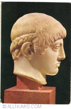 Athens - Acropolis Museum - The so-called Blond Head (about 480 B. C.) (1973)
