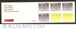 Image #1 of Booklet 2 x 60 Cent, 4 x 70 Cent 1993 - Numeral Types