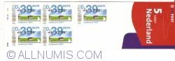 Booklet  5 x 0,85 Gulden - 0,39 Euro 2001