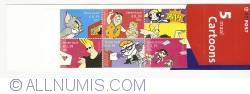 Booklet Cartoons 5 x 85 Cent - 0,39 Euro 2001