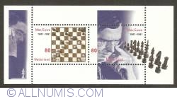 Image #1 of Chess - Max Euwe Souvenir Sheet 2001