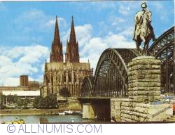 Image #1 of Köln (Cologne) - Cathedral and Hohenzollern Bridge (1978)