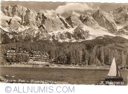 Image #1 of Eibsee, Hotel and Zugspitze (1954)