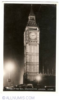 Image #1 of London - Flood-lit Big Ben, Westminster