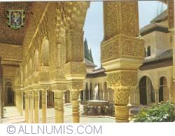 Granada - Alhambra. Court of the Lions (Patio de los Leones) (1979)