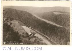 Image #1 of Herbeumont (sur Semois) - The Peninsula seen from the Castle (La Presqu'Ile vu du Château) (1943)