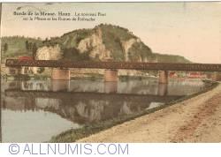 Image #1 of Houx - The New Bridge over the Meuse river and the Ruins of Poilvache Castle (Le nouveaux Pont sur la Meuse et les Ruines de Poilvache)