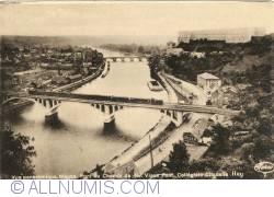 Image #1 of Huy - Panoramic View on the Meuse, Railway Bridge, Old Bridge, Collegiate Church and Citadel