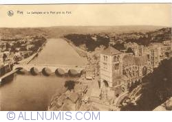 Image #1 of Huy - Collégiale Church and the Bridge taken from the Fort (La Collégiale et le Pont pris du Fort)