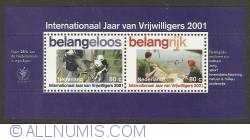 Image #1 of International Year of the Volunteers Souvenir Sheet 2001