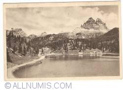 Imaginea #1 a lacul Misurina cu  Tre Cime di Lavaredo (1937)