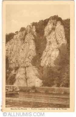 Image #1 of Marche-les-Dames - Tragic Rock. View taken from the Meuse (Rocher tragique. Vue prise de la Meuse) (1936)