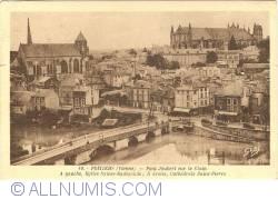 Image #1 of Poitiers - JJoubert bridge on the Clain. Church of St. Radegone. St. Peter's Cathedral (Pont Joubert sur le Clain. Église Sainte-Radegone. Cathédrale Saint-Pierre)