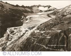 Image #1 of Rhône Glacier with  Furka Pass (Rhonegletscher mit Furkastrasse)