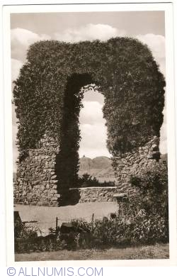 Remagen - Rolandsbogen with view on the Dragenfels (1952)