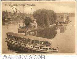 Image #1 of Visé - Meuse River, Robinson Island and tourist boat (La Meuse, l'Ile Robinson et la bateau touriste)