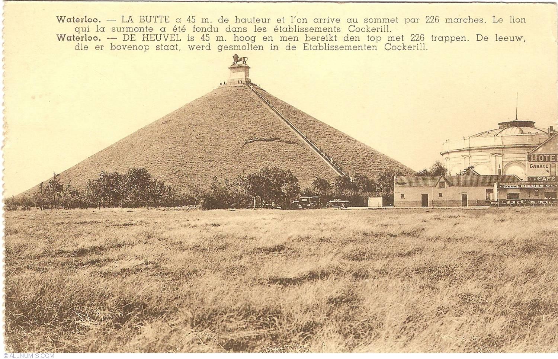 Hotel De La Butte waterloo - mound of lion (la butte de lion), waterloo