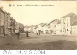 Image #1 of Wavre - La Place du Sablon and Liberty Statue (La Place du Sablon et Statue de la Liberté)