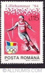 115 Lei 1994 - Jocurile Olimpice de iarna Lillehammer