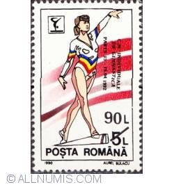 90 lei 1992 - Campionatele individuale de gimnastica Paris