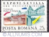 25 lei 1992 - World exhibition Sevilla-Cernavoda railroad bridge