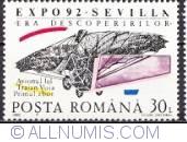 30 lei 1992 - World exhibition Sevilla-Traian Vuia aircraft