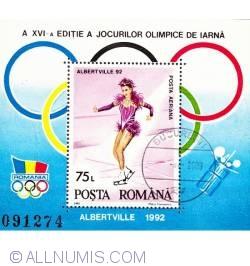 75 lei 1992 - Jocurile Olimpice de iarna Albertville 1992