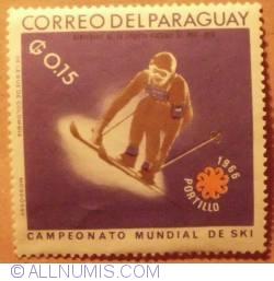 Image #1 of 0.15 Guaranies Ski 1966