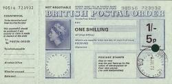 Imaginea #1 a 1 Shilling / 5 Pence 1973 (6 iulie)