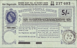 5 Shillings 1957 (Issued at Merton-On-Avon,Bath (Somerset) on December 6th.)