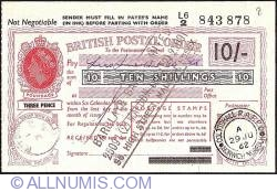 Image #1 of 10 Shillings 1962 - Extremely rare Royal Air Force Post Office issue.