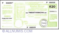 Imaginea #1 a 20 Kwacha 1995