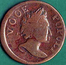 Image #1 of 1/2 Penny 1760 - Voce Populi& - Voice of the People